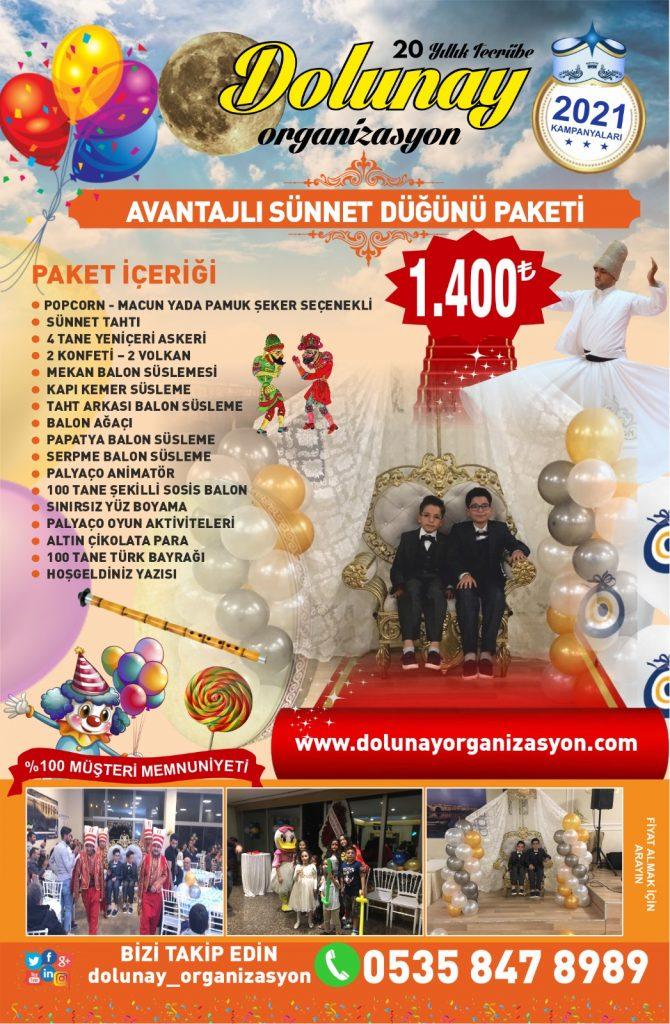 Sünnet Organizasyonu Avantajlı Sünnet Düğünü Paketi