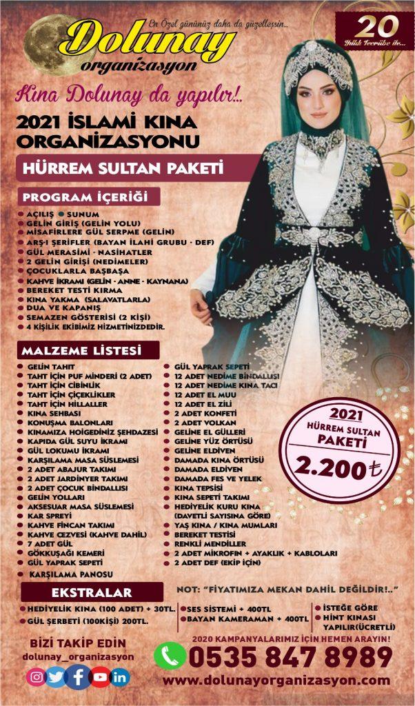 İslami Kına Organizasyonu Hürrem Sultan Paketi