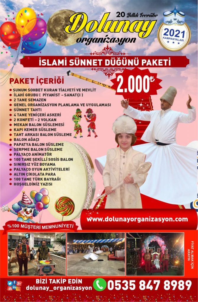 Sünnet Organizasyonu İslami Sünnet Düğünü Paketi