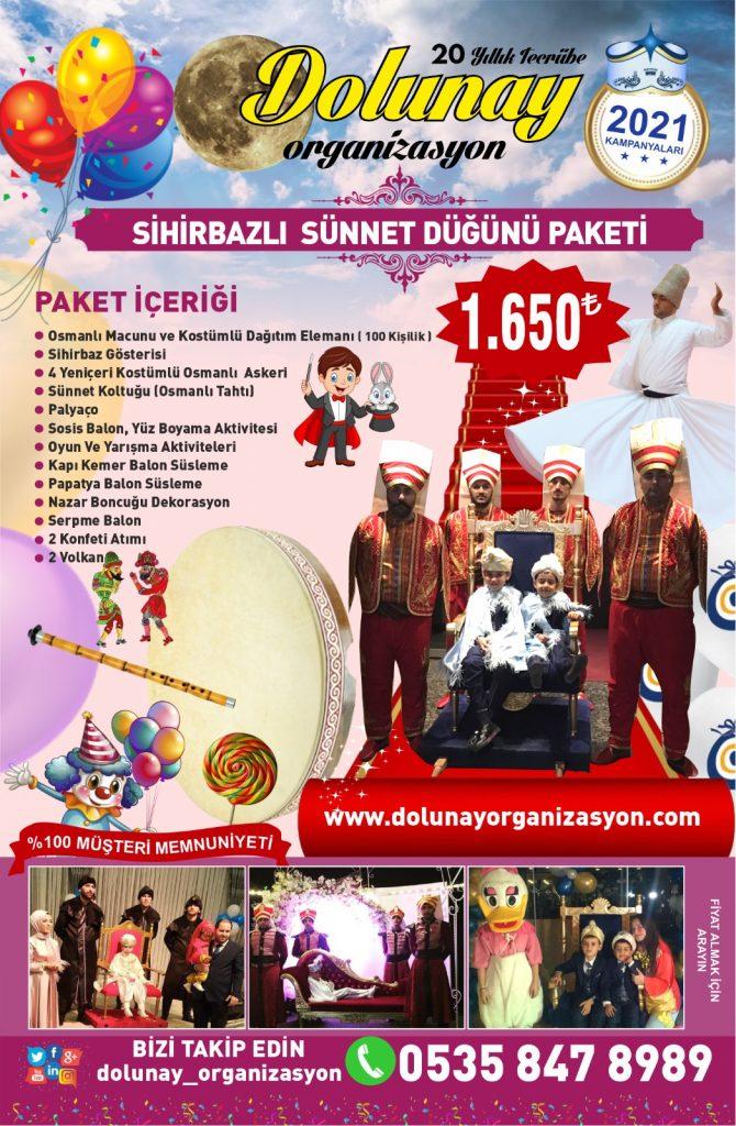 Sünnet Organizasyonu Sihirbazlı Sünnet Düğünü Paketi